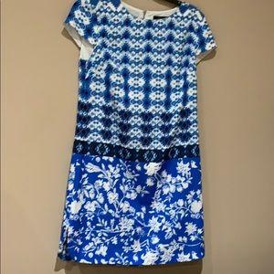 Cynthia Steffe multi patterned shift dress